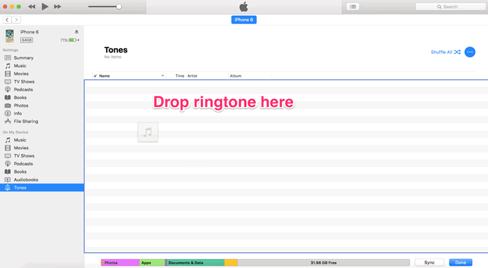 How to setup iPhone ringtones